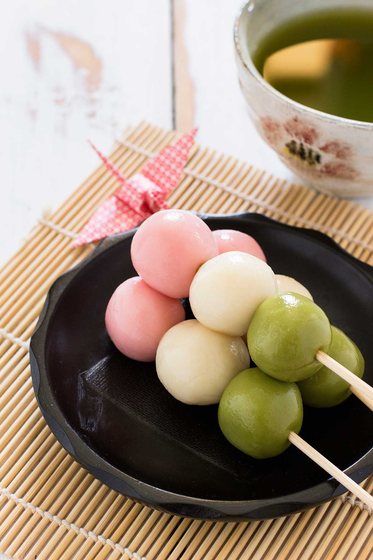 the 3rd of march marks the girls day festival in japan known as hinamatsuri so to celebrate this festival i made three colour dango or sanshoku