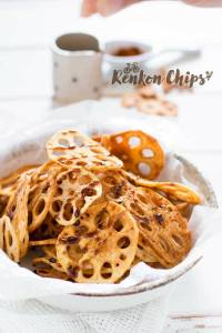 Renkon Chips Amazu sauce レンコンチップス