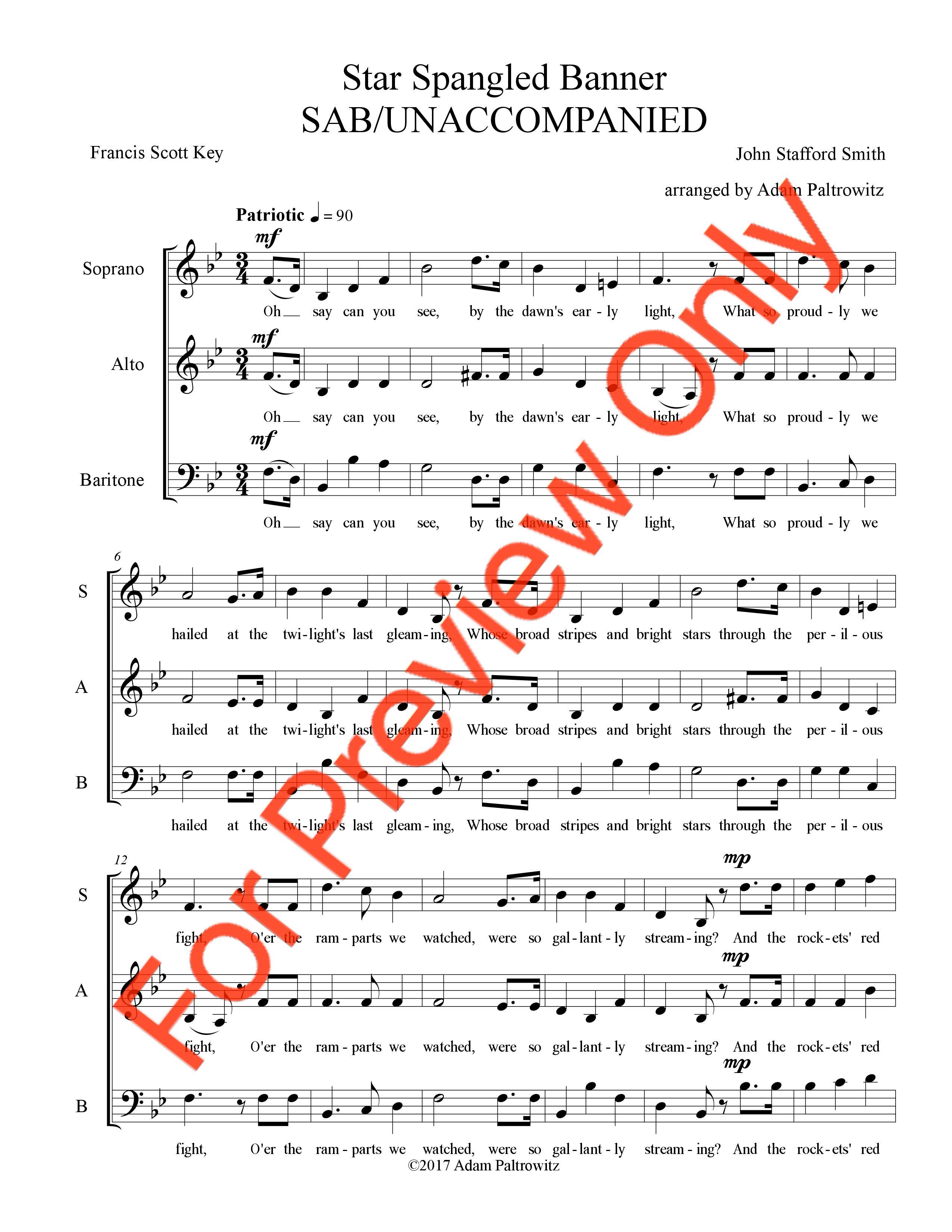 Star Spangled Banner Sab