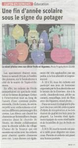 Article de presse du progrès sur la participation de la chorale de Tupin et Semon sLe Choeur de la Source à la fête de l'école