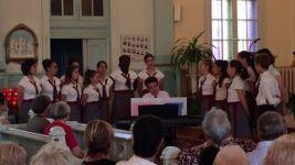 """Un petit extrait du concert à Saint-Elzéar à Laval ! Le """" Maria mater gratiae """" chanté par une partie de la chorale #petitchoeur #choir #anguelos #tournée #canada"""