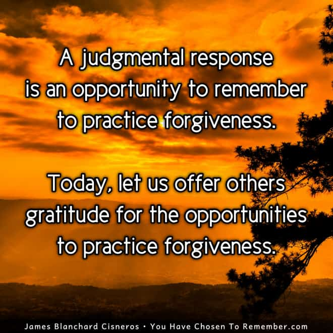 Inspirational Quote about Judgment and Forgiveness