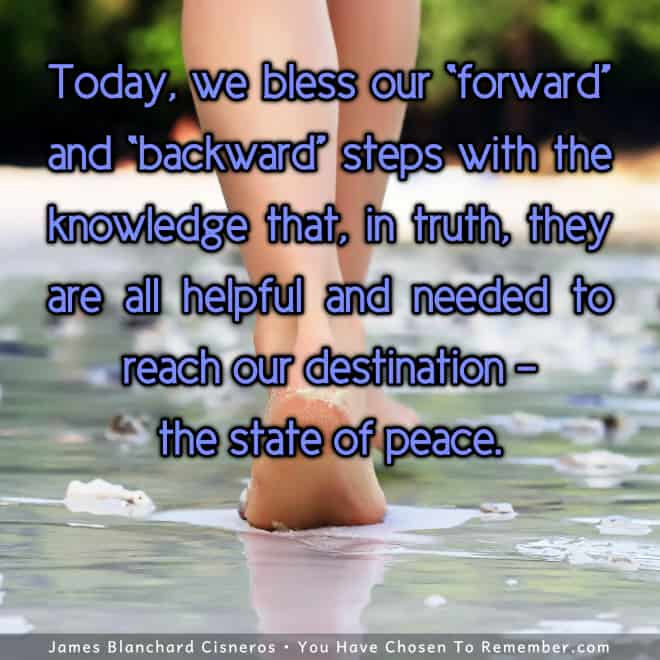 Inspirational Quote - Every step on our journey helps us grow and find peace.