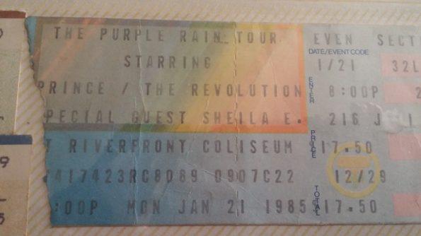 Purple Rain Tour Ticket Stub