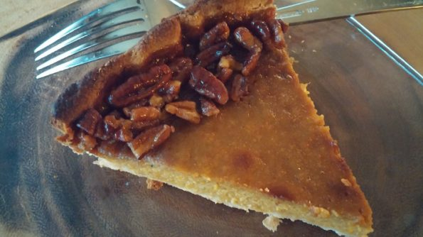Roasted Butternut Squash Pie with Pecan Maple Drizzle