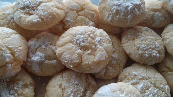 Orange Burst Crinkle Cookies