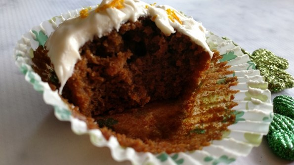 Stout Cupcakes with Irish Cream Frosting
