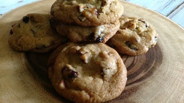 Browned Butter Cherry Pecan Cookies