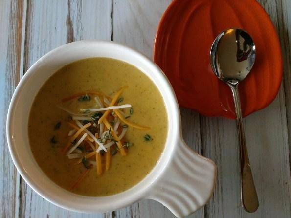 Pumpkin Broccoli Cheddar Cheese Soup