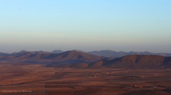 The Atlas mountains.