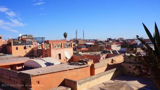 The rooftop view, overlooking the souk passageways.