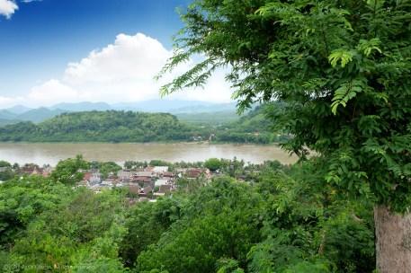 Mount Phousi Luang Prabang view