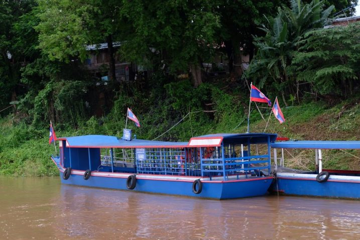 Laos ferry boat (River Cruise views)