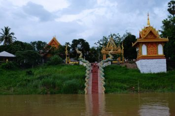 A temple on the Laos border (River Cruise views)