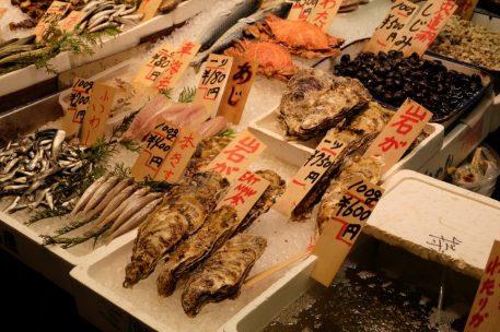 Nishiki Market fresh seafood