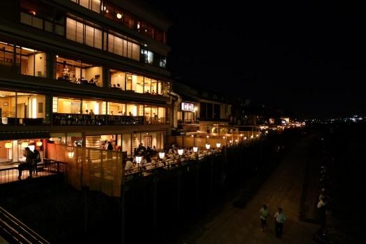 Kamo River restaurants kyoto