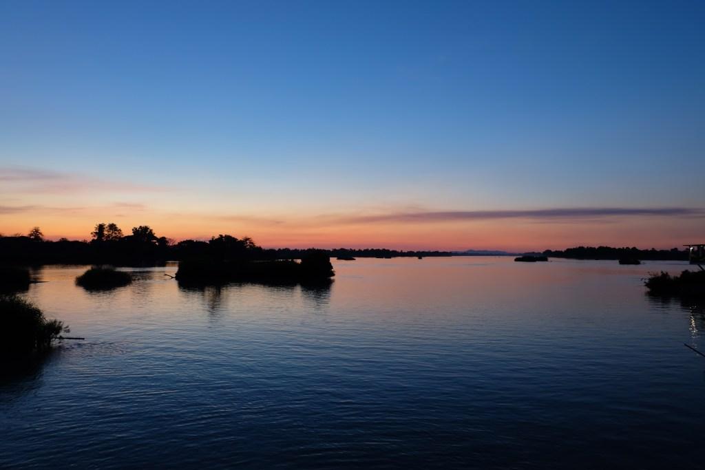 Sunset Mekong River Don Det Island