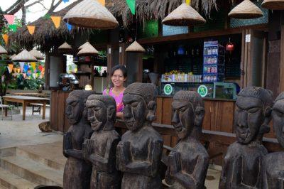 Shops near Tad Yuang Waterfall