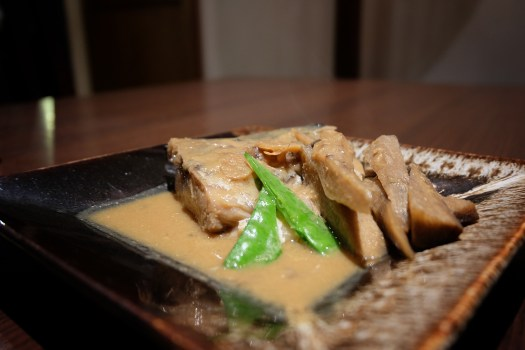 Simmered Mackerel with Miso Sauce dish at Rakuu Bangkok