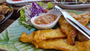 Chicken Satay Hippie Bar Buffalo Bay Beach Koh Phayam