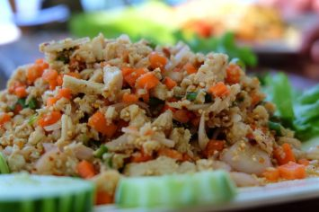 Larb Gai with a Burmese Twist
