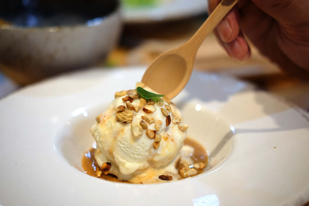 Apple Miso Caramel Dessert at Chim Ramen