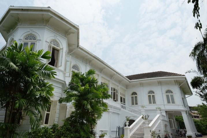The back of Deva Manor
