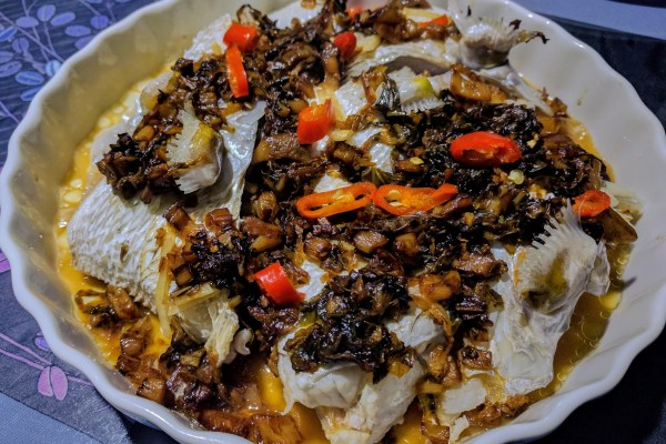 Steamed Fish with Mui Choy