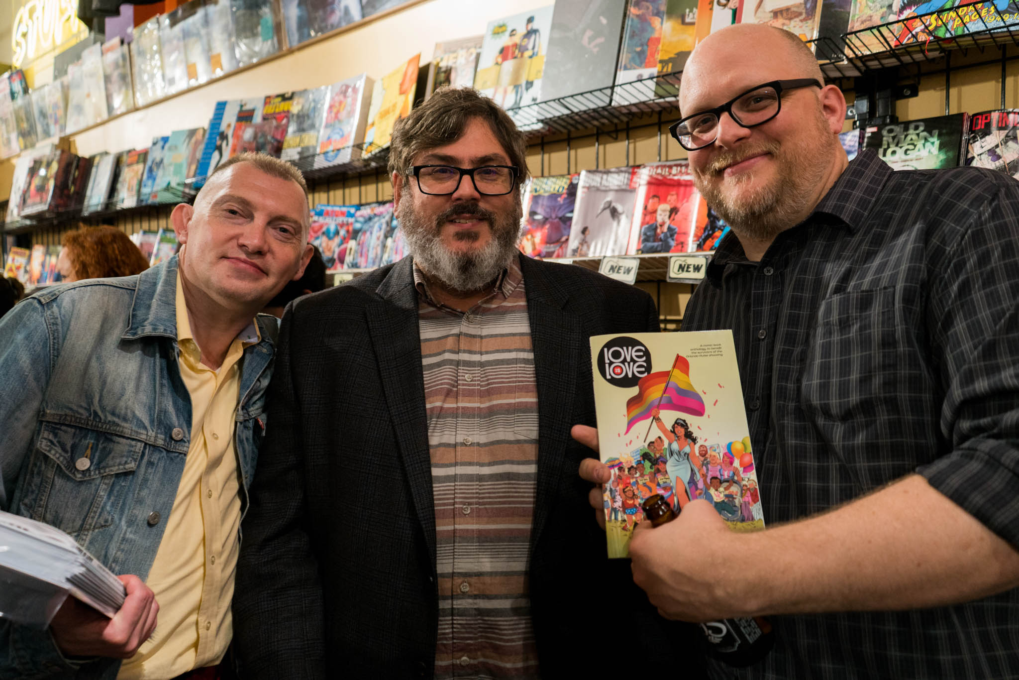 Love Is Love, Golden Apple Comics, Marc Andreyko, DC Comics, IDW Publishing, Crowd, Paul Dini, Joe on Joe Podcast