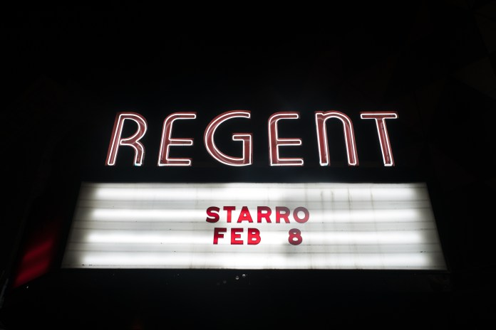 Regent Los Angeles Marquee for starRo Feb 8, 2017 starro, grammy, regent theatre