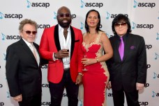 BEVERLY HILLS, CA - JUNE 22: (L-R) ASCAP President Paul Williams, Richie Stephens and EVP/ Membership ASCAP John Titta at the ASCAP 2017 Rhythm & Soul Music Awards at the Beverly Wilshire Four Seasons Hotel on June 22, 2017 in Beverly Hills, California. (Photo by Lester Cohen/Getty Images for ASCAP)
