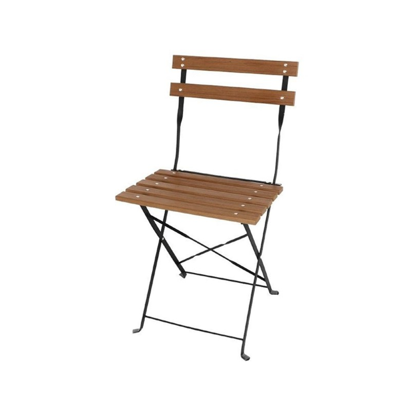 bolero lot de 2 chaises bistro pliables en lattes effet bois