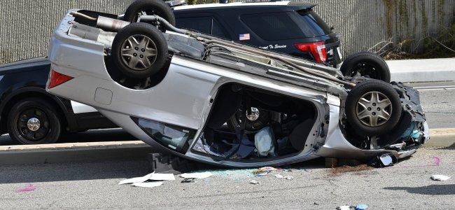 car upside down