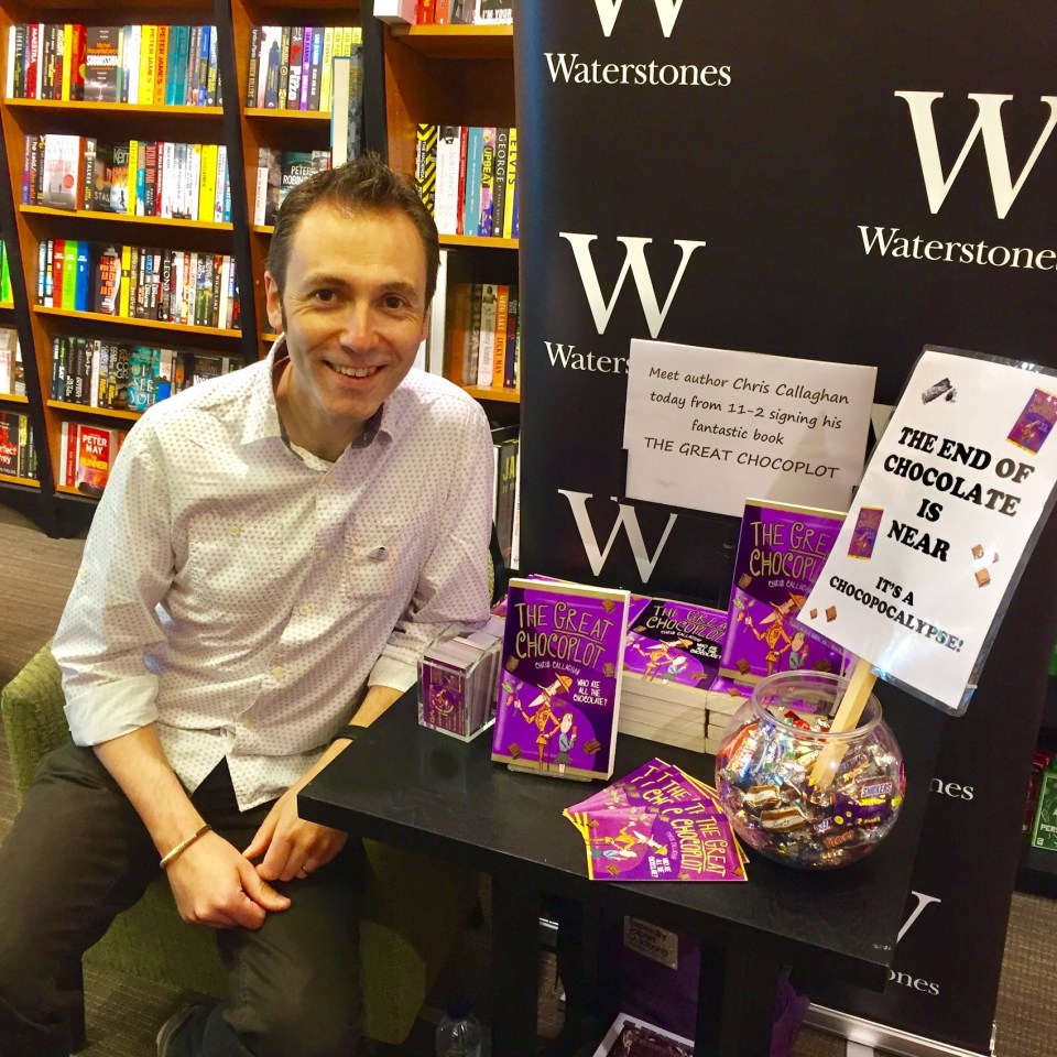 The Great Chocoplot, Chris Callaghan, Hexham, Waterstones, Chocopocalypse