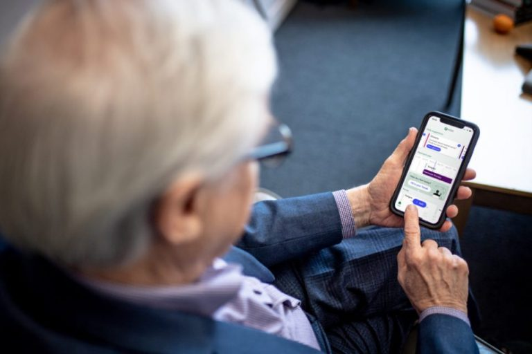 Patient using OWise app.