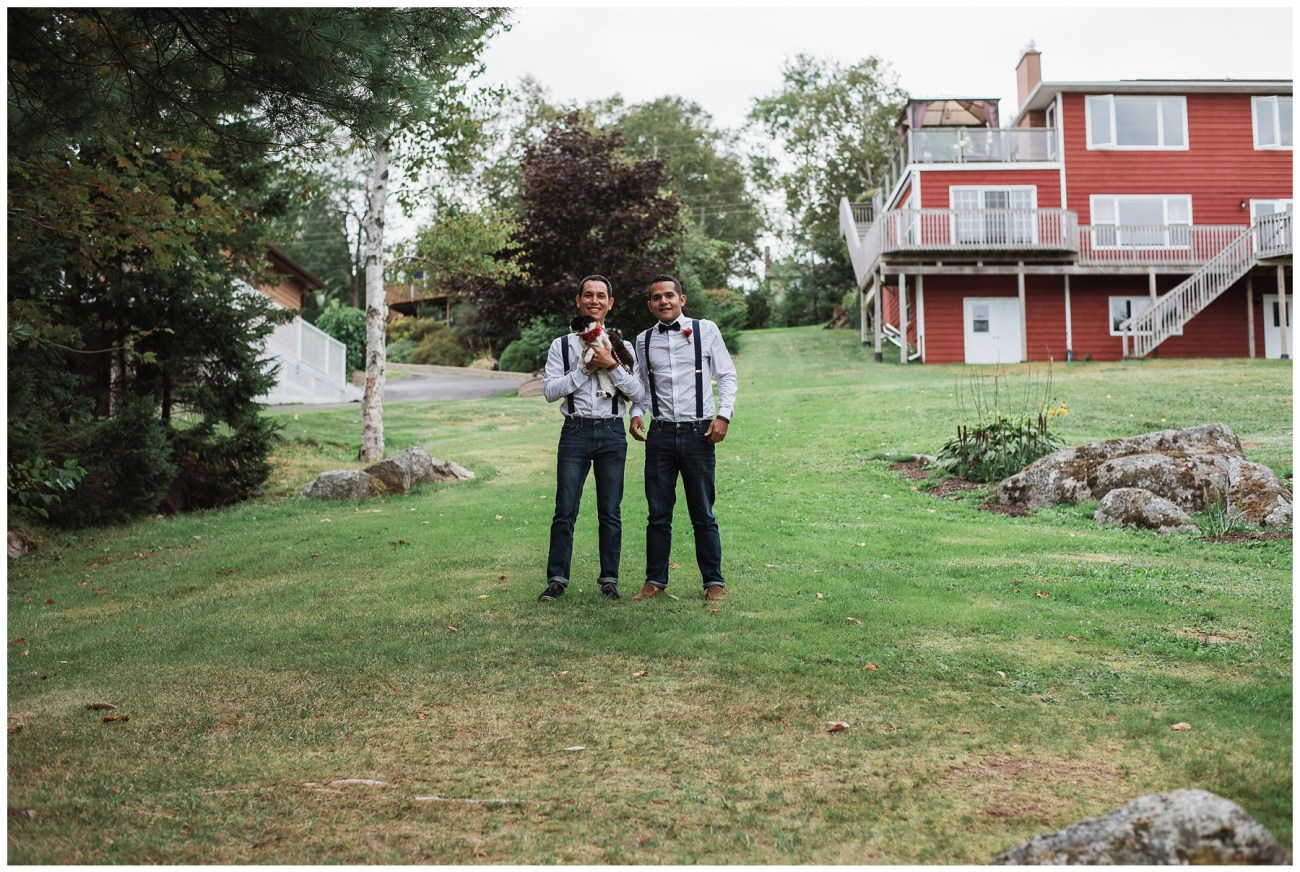 backyard wedding in Porters Lake, Nova Scotia