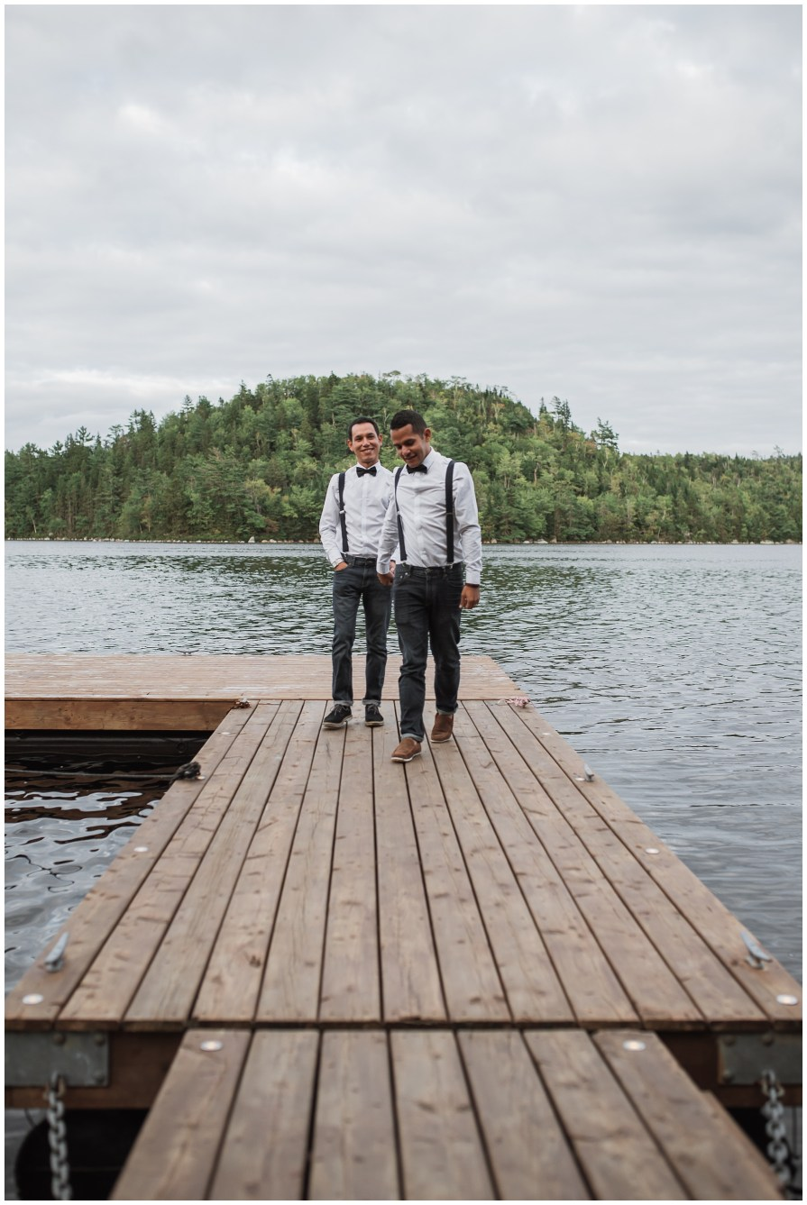 backyard wedding in Chester, Nova Scotia