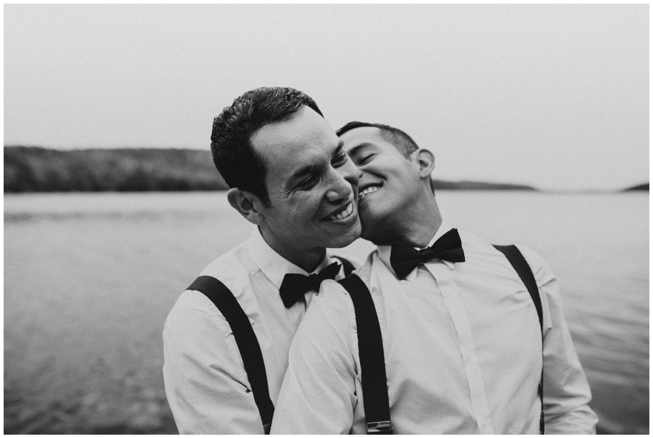 couples portraits backyard wedding in Porters Lake, Nova Scotia