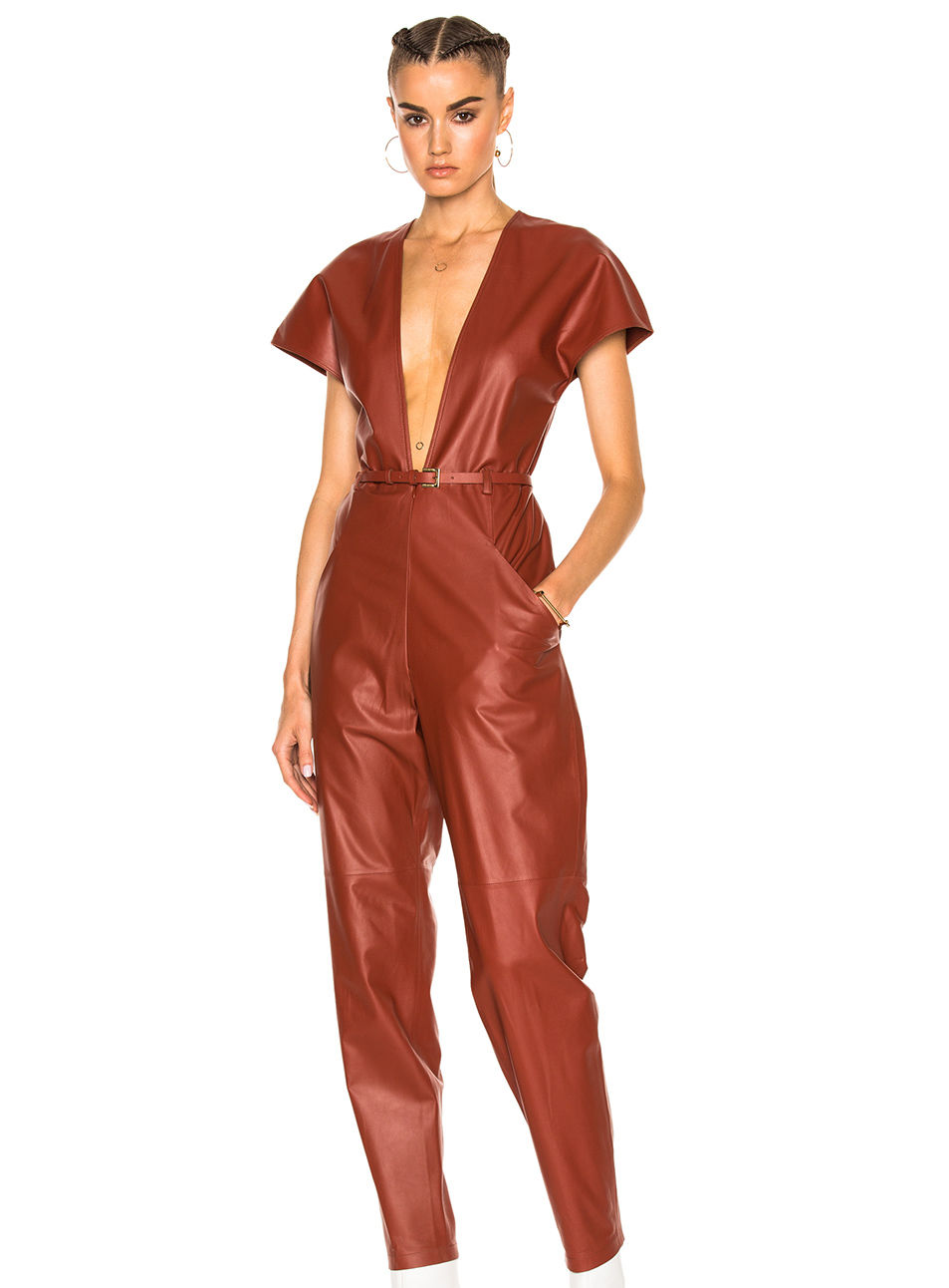 Holiday Sale Shopping Leather Jumpsuit