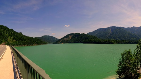 The Sylvensteinsee in Bavaria