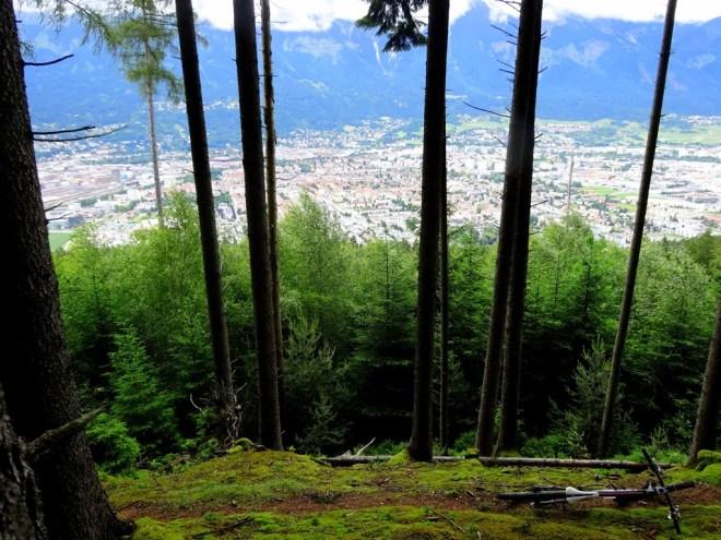 Looking down on Innsbruck from the Lanserkopfl