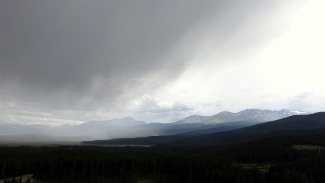 Looking across the Sawatch range to Mt Elbert and Mt Massive from Turquois Lake