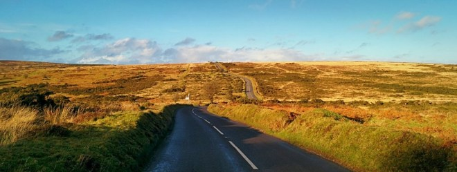 The top of Windsford Hill on Exmoor; a 1000 foot climb from the town of Dulverton