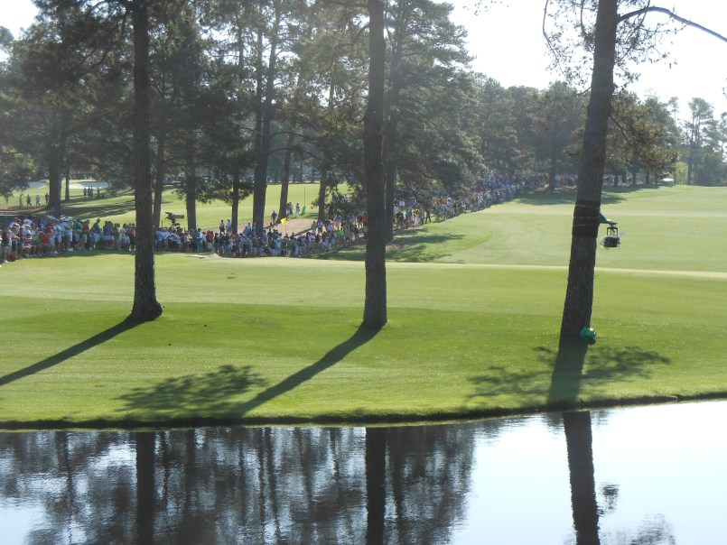 15TH GREEN (DISTANT VIEW FROM STANDS AT 16TH TEE)
