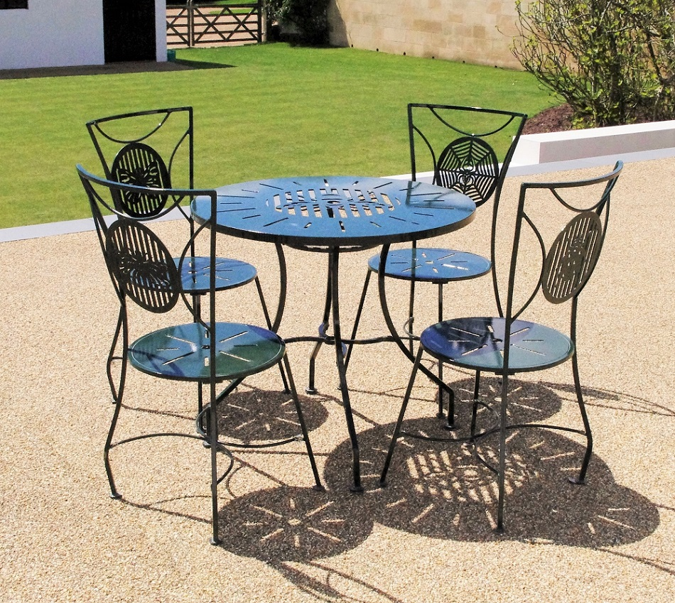 Metal garden furniture sets weather resistant chris bose for Metal garden furniture
