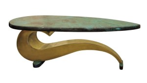 Brass coffee table Paisley by Chris Bose
