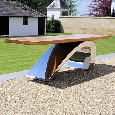 Contemporary garden furniture bench