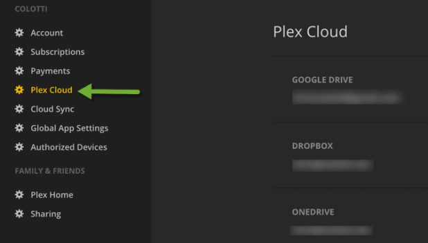 Plex Cloud Storage