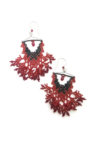 Mina Earrings Blood-Drenched Lace Collection BDLEMIN