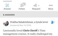 Ask Quora who has the best Lynda.com courses